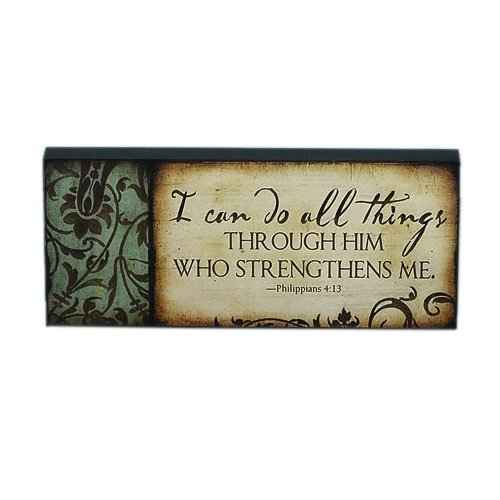 Abbey Gift I Can Do All Things Mini Plaque