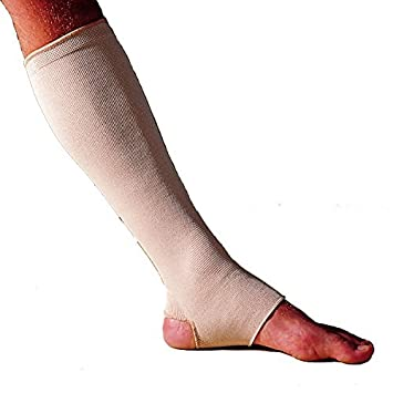 bae3aec30c Image Unavailable. Image not available for. Color: Elastic Garter Hose  Ankle Leg Medical Compression Stocking Support ...