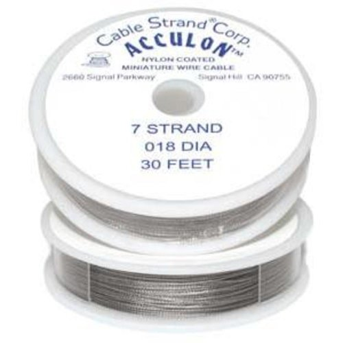 Acculon Tigertail Beading Wire 3 Strand Med/Heavy (Tiger Tail Cord)