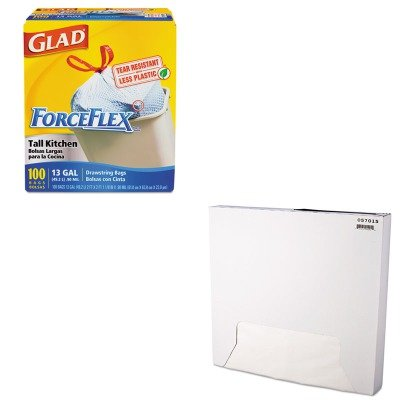 KITBCP057015COX70427 - Value Kit - Packaging Dynamics Grease-Resistant Paper Wrap/Liner (BCP057015) and Glad ForceFlex Tall-Kitchen Drawstring Bags (COX70427)