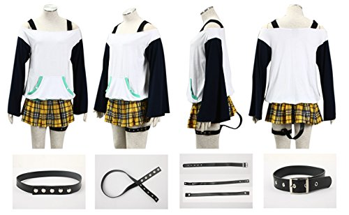 Rosario Vampire Costume (Dazcos Rosario + Vampire Mizore Shirayuki Kids and Women's Cosplay Costume (Women XXL))