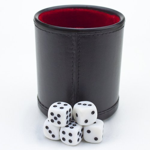Felt Lined Professional Dice Cup w/ 5 Dice by Brybelly by Brybelly