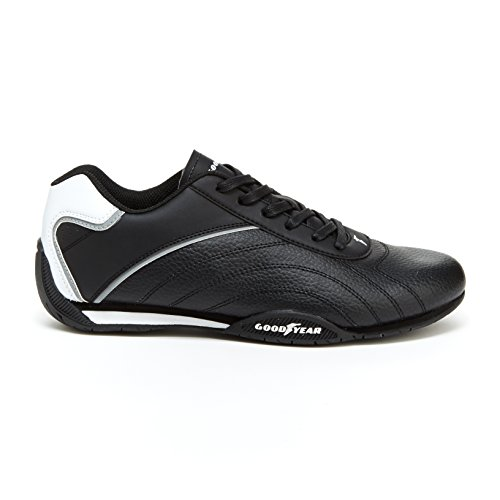 Shoes Racer Racing (Goodyear Mens Ori Racer Sneaker – Low-Top Sneakers, PU Leather & Mesh Lining)