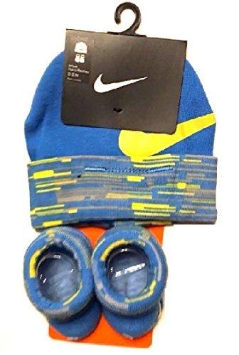 Hat Cap Booties - Nike Baby Boys Big Swoosh Graphic Print Hat & Booties Set 0-6M