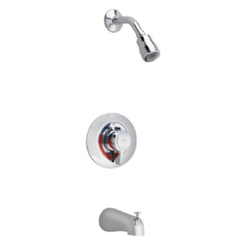 American Standard T375248.002 Colony Bath/Shower Trim Kit with Flowise Water Saving Showerhead Shower Arm, Polished Chrome