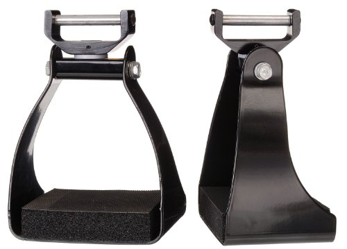 Tough 1 Swivel and Lock Endurance Stirrup, Black, 3-Inch (Stirrups Saddle)