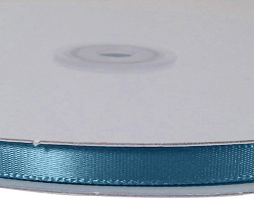 Firefly Imports Single Face Satin Ribbon, 1/4-Inch/100-Yard, Antique Blue - Antique Blue Satin