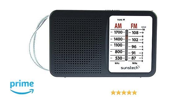 Sunstech RPS411 - Radio portátil Am/FM con Altavoz Integrado ...