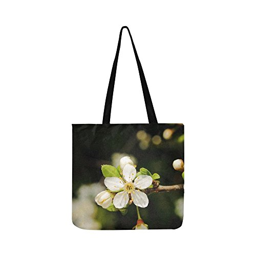- Mirabelka Flowers And Mirabelle Plums Plum Flower Canvas Tote Handbag Shoulder Bag Crossbody Bags Purses For Men And Women Shopping Tote