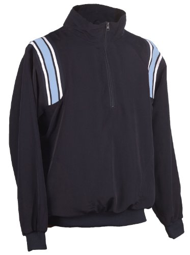 Adams USA Smitty Umpire 1/2 Zip Long Sleeve Pullover Jacket (Navy/Powder Blue, Large)
