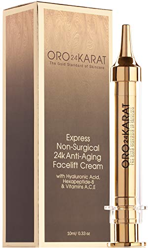 Instant Facelift Cream Express Non-Surgical Anti-Aging Cream Quick-Acting Anti-Wrinkle Reduce Fine Lines Minimize Age Spots Rich with Vitamins Made in the USA (.33oz)