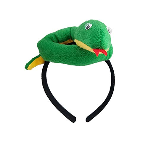 Amosfun Green Snake Headband Animal Costume Accessories for Kids Adult Halloween Carnival Party Cosplay Favors (Green+Yellow)]()