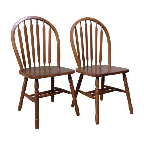 TMS Arrowback Chair (Set of 2), Oak by Target Marketing Systems