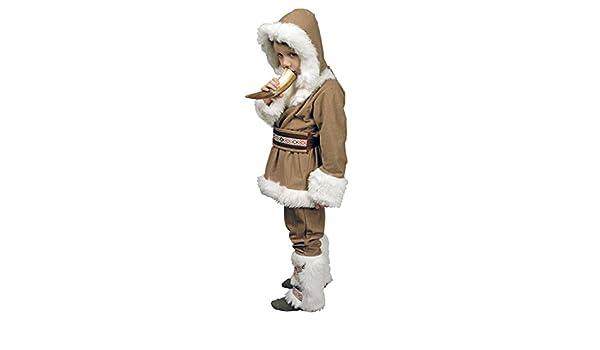Esquimal Niño Inuit infantil Disfraz marrón, blanco: Amazon.es ...