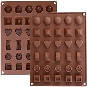 Moldes de Bombones de Silicona - Molde de Silicone para Chocolate ...