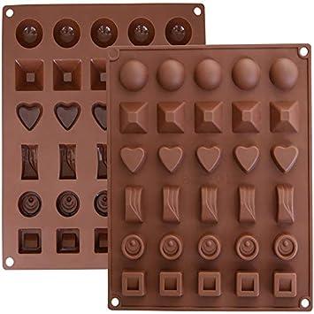 KBstore Moldes de Bombones de Silicona - Molde de Silicone para Chocolate/Caramelo de Café/Cubo de Hielo/Gelatina: Amazon.es: Hogar