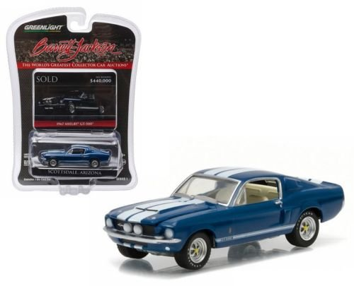 1967 SHELBY GT-500 (Midnight Metallic Blue) Scottsdale Edition Barrett-Jackson Series 1 Greenlight Collectibles 2016 Limited Edition 1:64 Scale Die-Cast Vehicle by GL Muscle ()