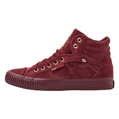 Trainers Red Top Burgundy Women's Hi Knights 03 Dee British Burgundy xXUqR171