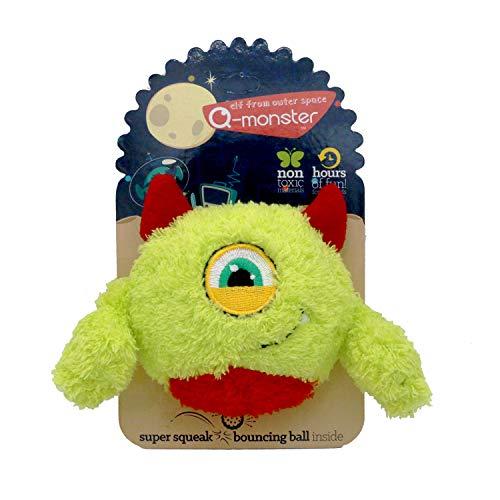 Collasaro QUTE Monster Squeaky Plush Dog Toy (Large, Playful Nick)