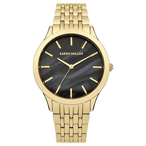 Karen Millen KM106BGMA Ladies Gold Plated Bracelet Watch