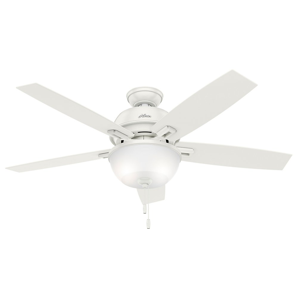 "Hunter Fan Company 52 "" Donegan天井ファンwithライト 53334 1 B01CDFYRCG Fresh White Fresh White"