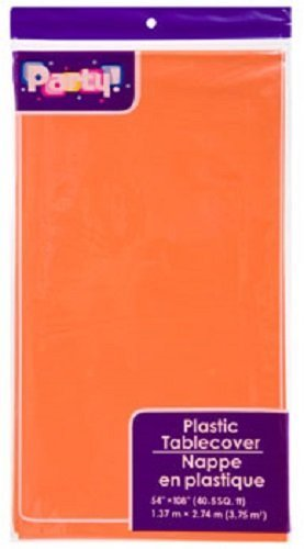 ORANGE Pack of 2 Disposable Tablecoths, 54x108' by DTSC Imports]()