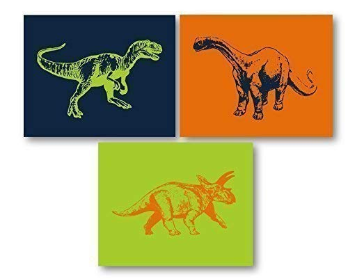 Dinosaur Art for Kids Room - Dino Decor, Dinosaur Wall Art, Dinosaur Nursery Decor, Dinosaur Theme Art Prints, Dino Art,