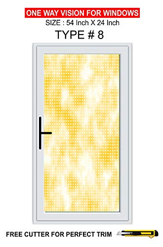 - Colour Full Window ONE Way Vision Perforated Vinyl SELF Adhesive 24 X 54 INCH-Type 8
