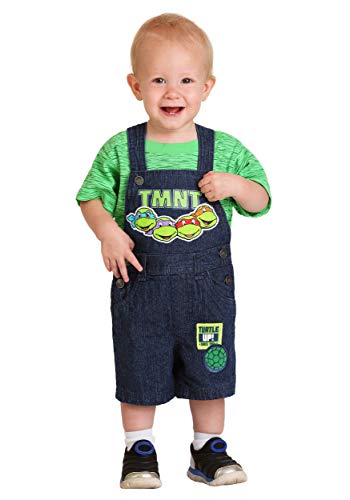Kids Pant Turtle - Infant Boy's TMNT Turtle Up Shortall Set 18 Months Green