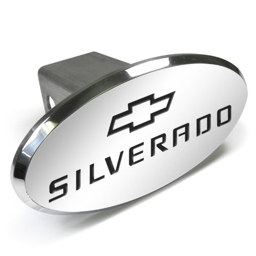 (CarBeyondStore Chevrolet Silverado Engraved Oval Aluminum Tow Hitch Cover)