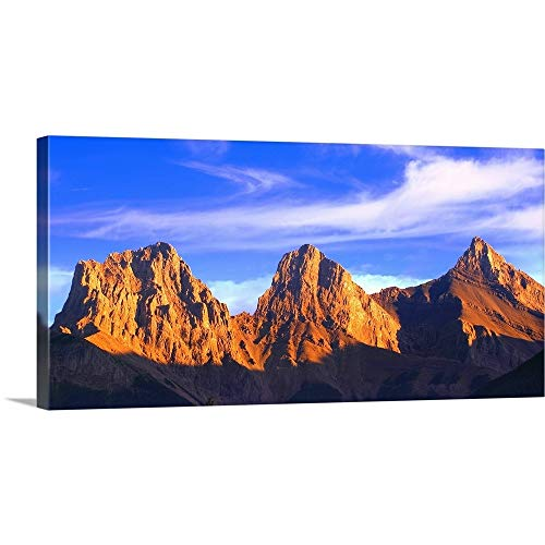 GREATBIGCANVAS Gallery-Wrapped Canvas Entitled Three Sisters Mountain, Canmore, Alberta, Canada by Carson Ganci 60