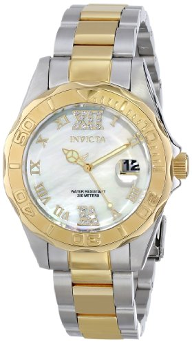 Invicta Women's 14353 Pro Diver Analog Display Swiss Quartz Two Tone Watch