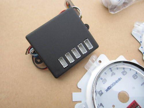 92 93 94 95 Civic EX LX MT Manual Transmission 7 Color White Face LED Glow Gauges Dash Light Kit