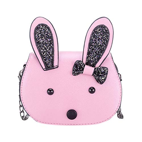 Londony ✡ Women's Costume Accessory Toddler Kids Backpacks Plush Bunny Little Girls Boys Kindergarten Animal Backpacks Pink