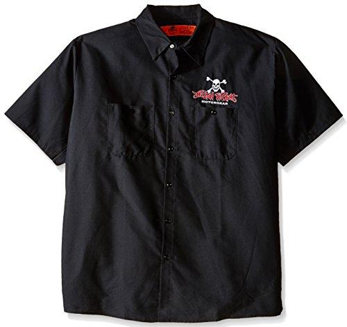 Lethal Threat (WS40302XXL Men's 'FREEDOM ISN'T FREE EAGLE' Work Shirt (Black, ()