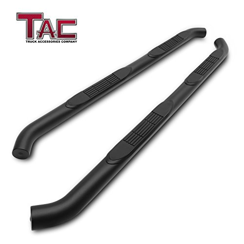 TAC Side Steps Running Boards Custom Fit 2018-2019 Jeep Wrangler JL 4 Door SUV 3 inches Texture Black Side Bars Step Rails Nerf Bars Rock Panel Off Road Exterior Accessories (2 Pieces Running Boards)
