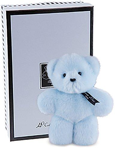 Doudou et Compagnie Ours Mini Baby Bleu Collection Prestige Layette