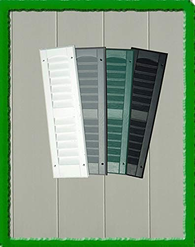 OUTDOOR PLAY AND STORAGE LOUVERED Molded SHUTTERS 6''X21'' (Pair) (Green)