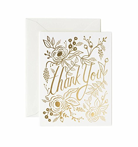 Rifle Paper Co Marion Gold Foil Thank you Cards (Set of 8)