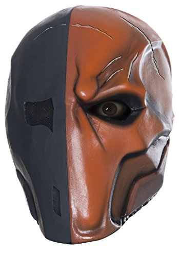 s Arkham City Adult Deluxe Overhead Latex Death Stroke Mask, Multi, One Size (Overhead Latex Adult Mask)