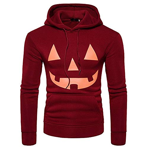 GOVOW Halloween Long Sleeve Shirt for Men Clearance