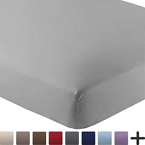 Bare Home Fitted Sheet Premium Microfiber 1800 Ultra-Soft