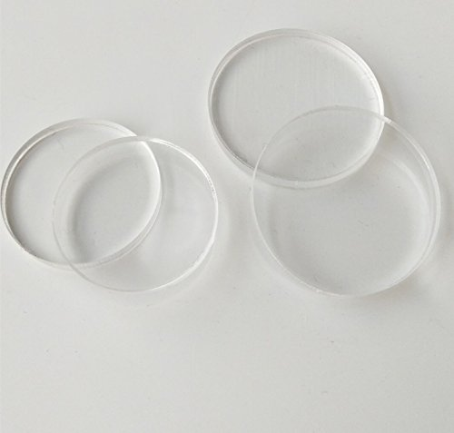 MEYA Set of 20pcs Clear Acrylic Discs, Plexiglass Laser Cut Round Circle 1/8 (Dia 1.5)