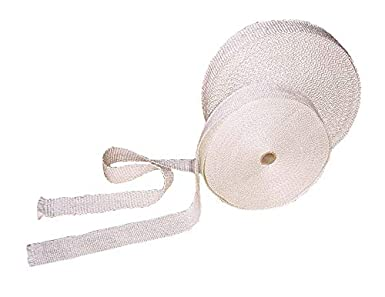 """1 inch 1/"""" White Gasket rope 7 Feet Outdoor Stove Pellet wood Stove Furnace ."""
