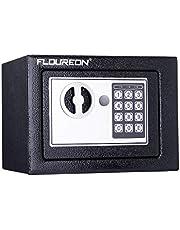 FLOUREON Safe Tresor Wandtresor Wandsafe Möbeltresor Geldsafe Geldtresor Dokumententresor mit elektronischem Zahlenschloss (23cm x 17cm x 16.7cm)