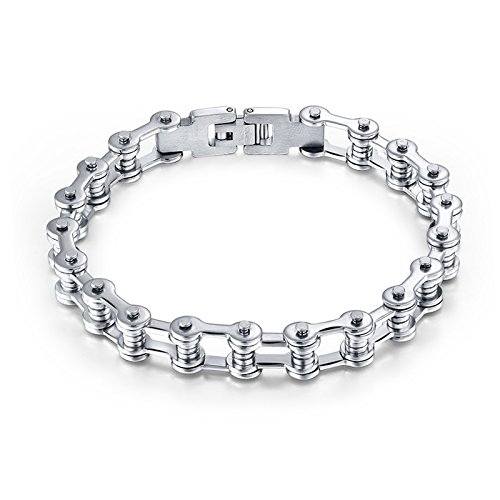 Effie Queen Stainless Steel Silicone Bike Chain Bracelet (Style 2)