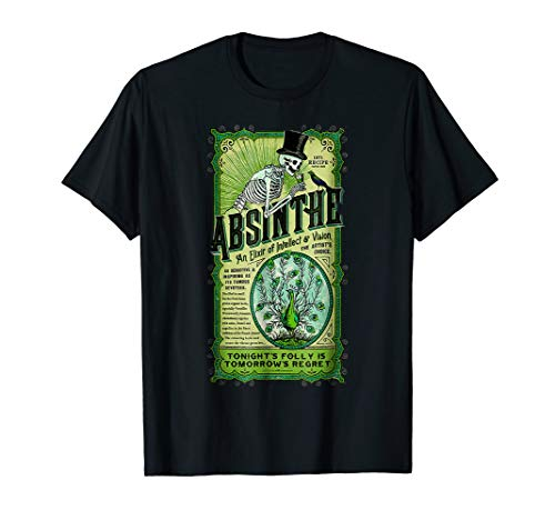Absinthe an Elixir of Intellect and Vision Vintage T-shirt