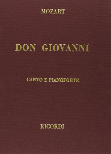 Don Giovanni, Clothbound, Italian only: Vocal Score