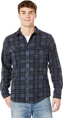 (O'Neill Men's Glacier Stretch Button Up Polar Fleece Shirt, Ridge Dark Navy, XL)