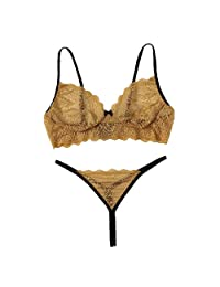 2019 New Sexy Women Lingeries Lace Lingerie Wire Free Underwear Bowknot Bra Thong G-String Set